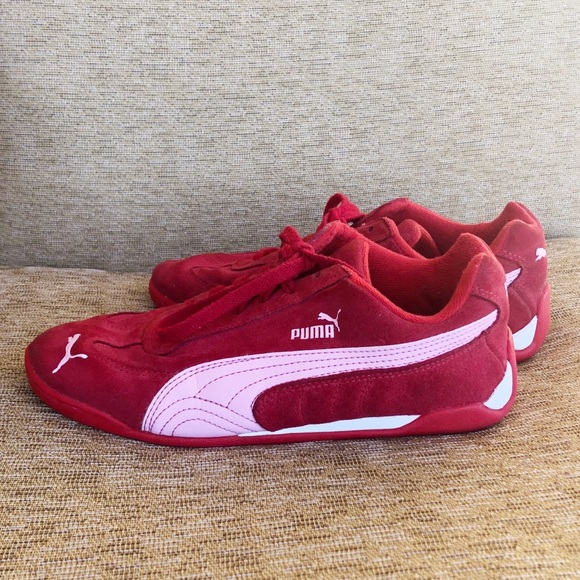 """Puma """"Speed Cat"""" red suede sneakers 6"""